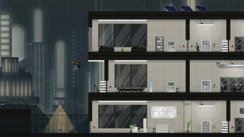 Gunpoint Screenshot – Window Dive