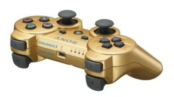 Gold PS3 controller now available at GameStop