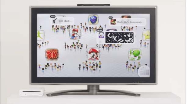 Say hello to the Wii U menu screen and Miiverse