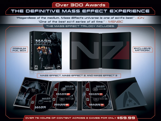 Mass Effect Trilogy Announced, Original Finally Coming To PS3