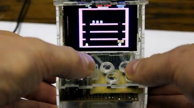 Hacker Gets A Tiny Raspberry Pi To Become A Portable Arcade