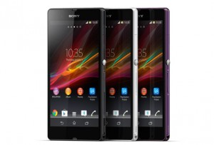 The Sony Xperia™ Z comes in three distinct colors.