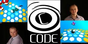 CODE, founders Jarek and Dan, and screens of Very Little Monsters