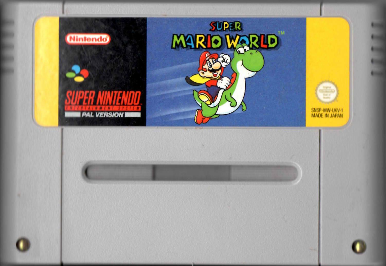 SNES Super Mario World cartridge