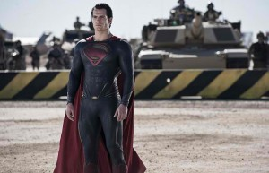 Superman standing in front of humanity, like Daddy Jor El always knew.
