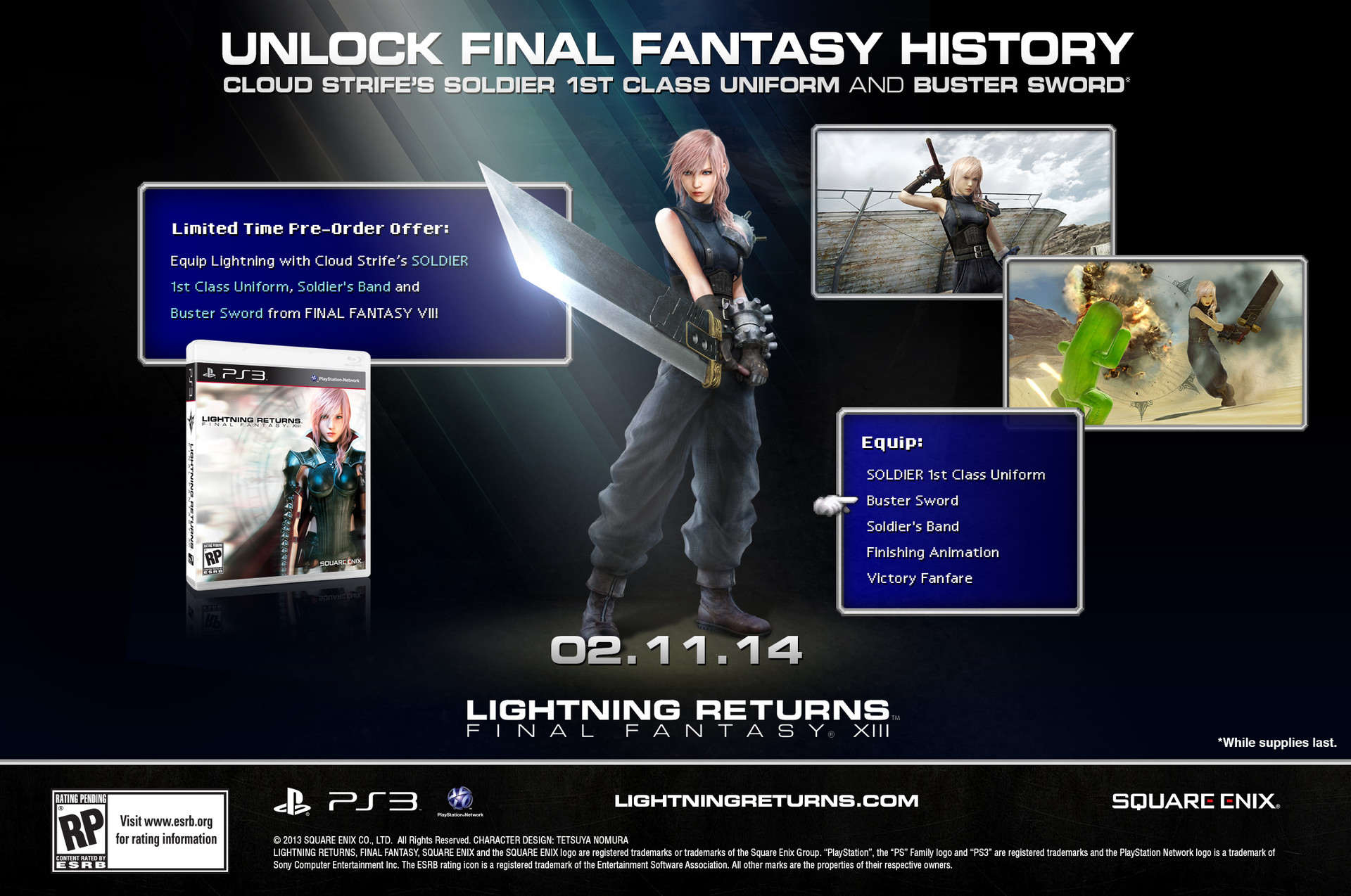 FFXIII Lightning Returns Cloud Strife Pre-Order Bonus