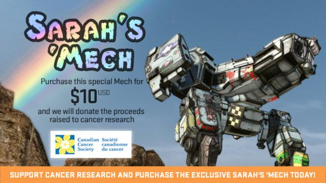 MechWarrior Online Raises $100,000 for Canadian Cancer Society