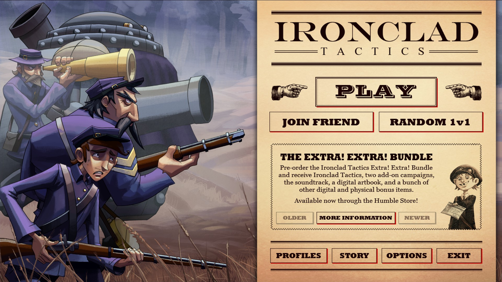 Livestream: Ironclad Tactics – Come See Us Wage Civil War With Robots and Cards