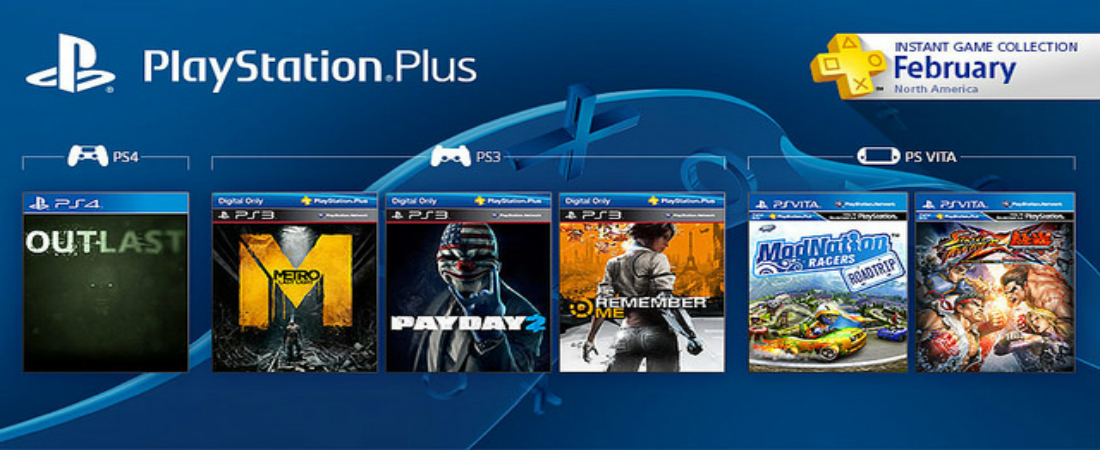 PlayStation Plus for February Brings Us Outlast, Metro: Last Light, Payday 2, and More