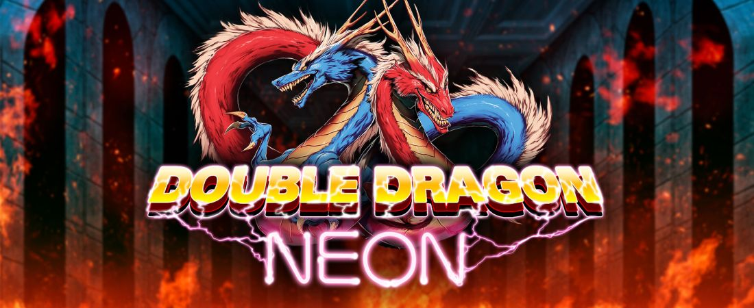 double dragon neon banner