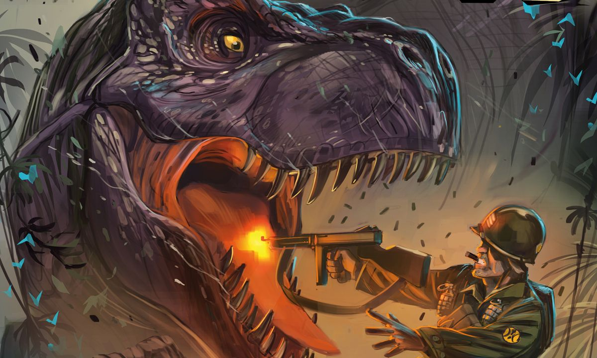 Chronos Commandos Vol. 1 Review: Dino-Killing Pulp at its Finest