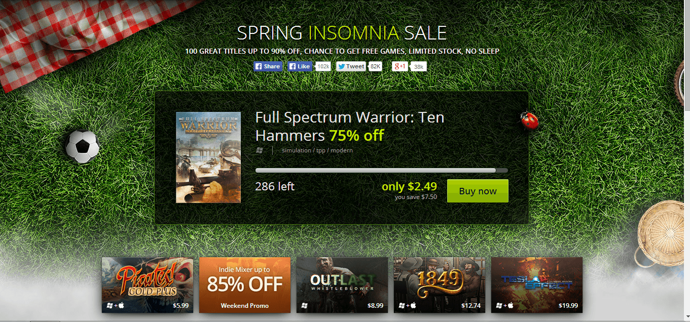GOG Spring Insomnia Sale Begins Today