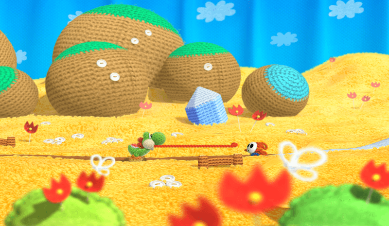 Yoshi Adorably Crochets the Competition in Wooly World