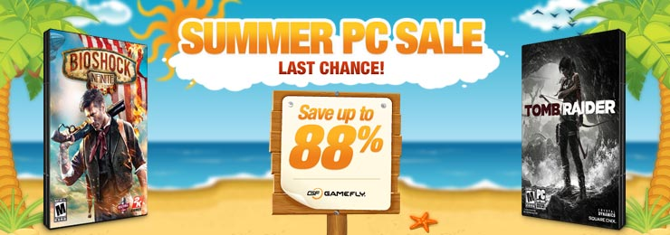 GameFly's Summer Sale Brings Huge Discounts