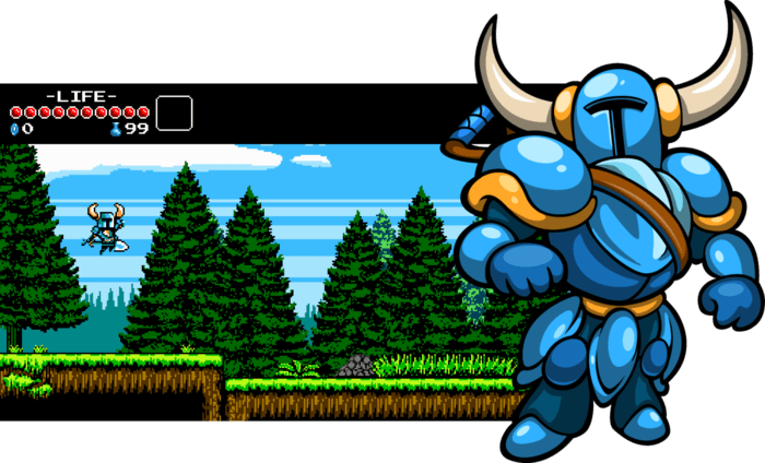 Shovel Knight: misusing gardening tools at E3