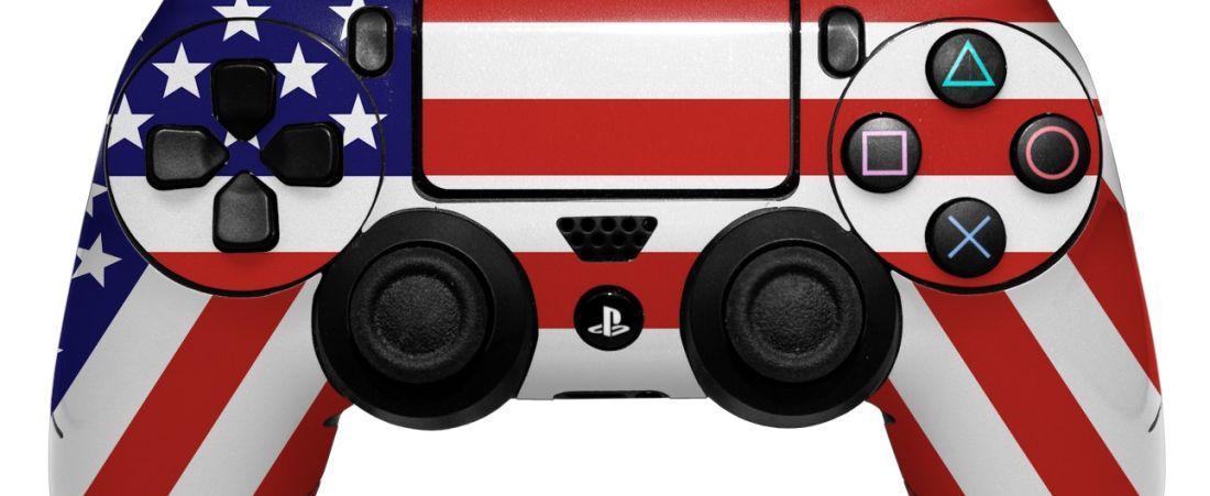 PS4 American flag controller
