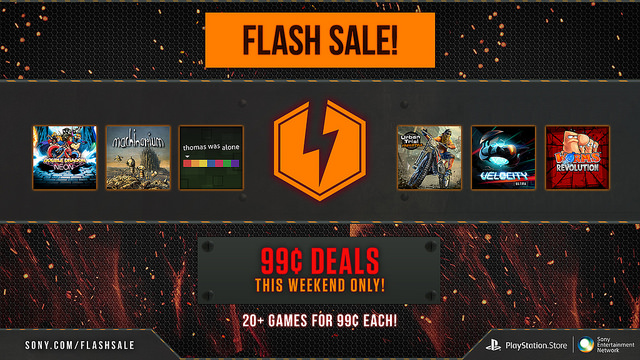 Weekend PSN Flash Sale – 20 Games For $1 Each!