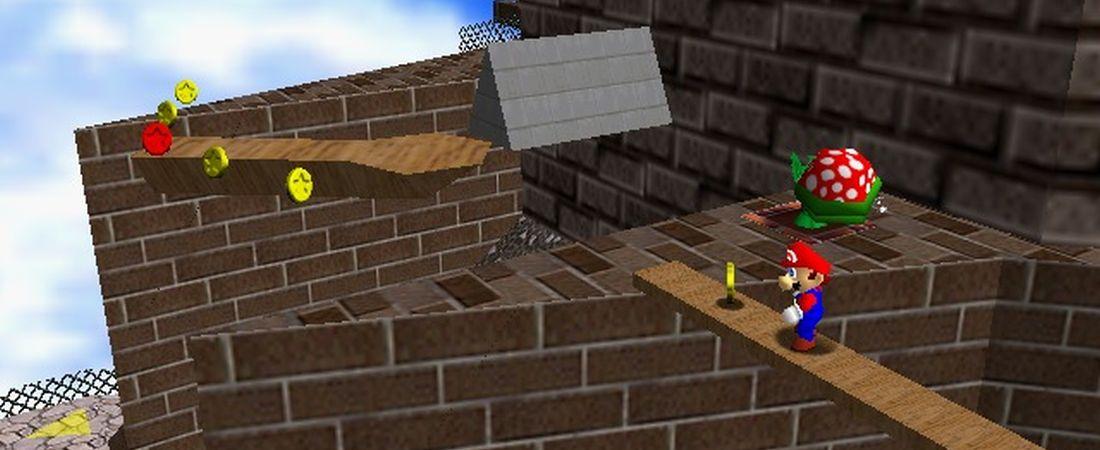 Super Mario 64 sleeping pirahna