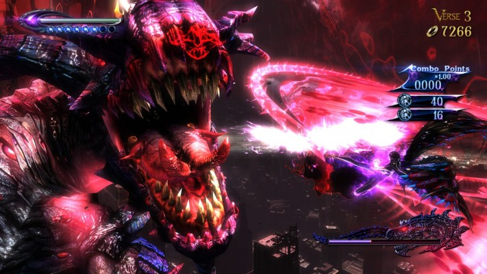 This impressive battle against one of Bayonetta's demons? Yeah, this is in the prologue. This game gets to the point.
