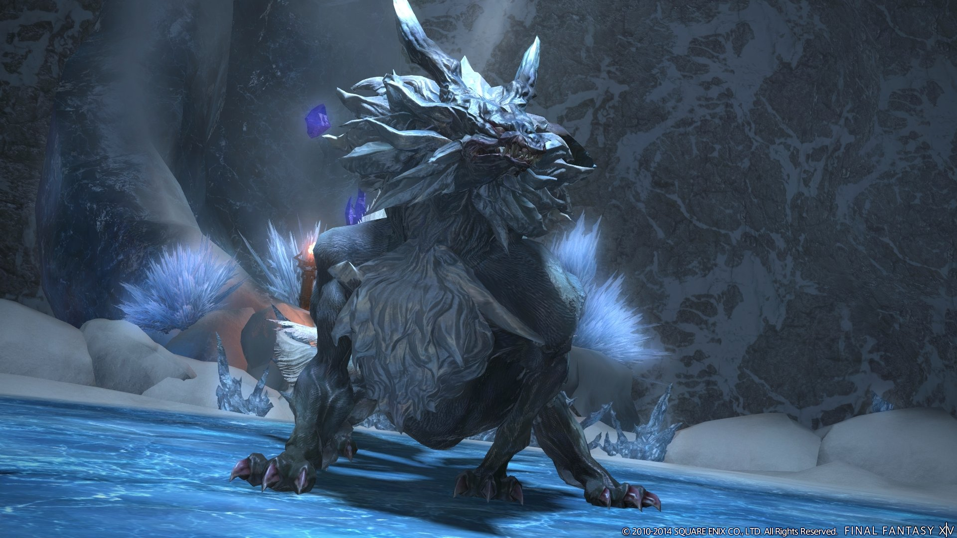 Like Diabolos before him, Fenrir makes his debut in Final Fantasy XIV as a boss in the new Snowcloak dungeon.