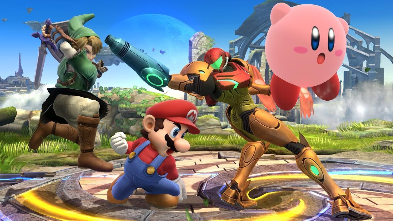 Mario Link Samus Kirby Smash Bros