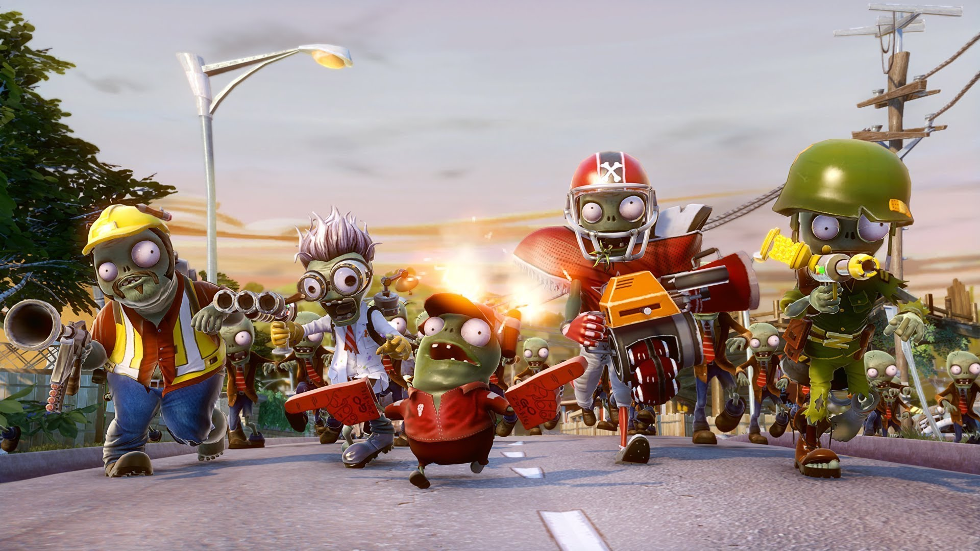 Plants vs Zombies Garden Warfare street