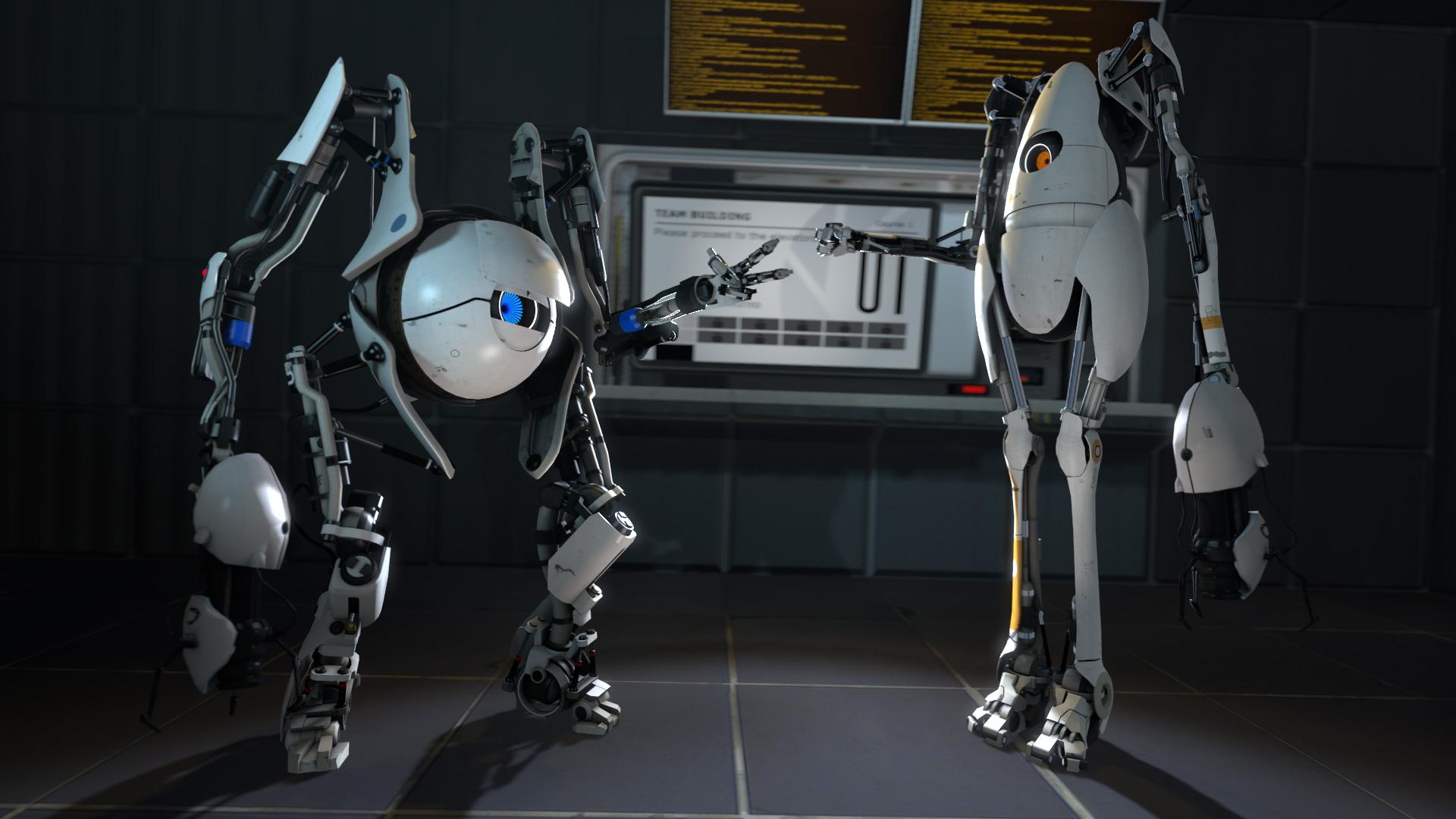 Portal 2 co-op robots