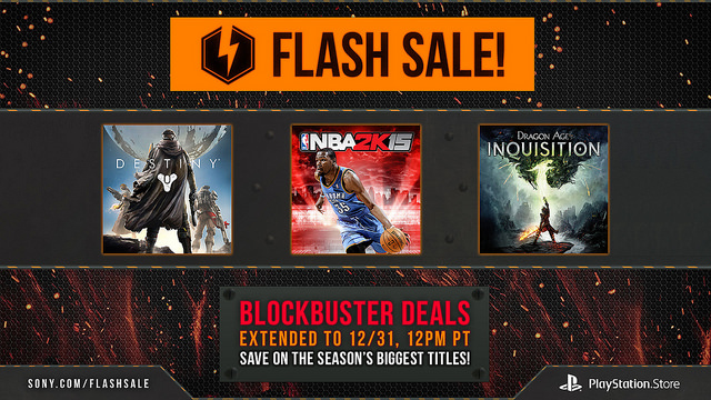 PS Store Flash Sale 2014