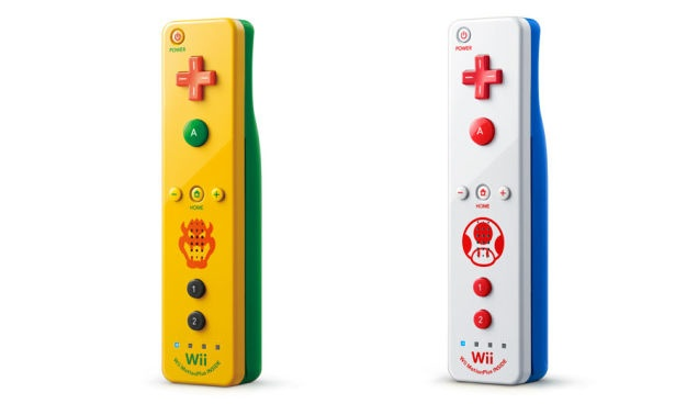 Toad and Bowser Wii Remotes