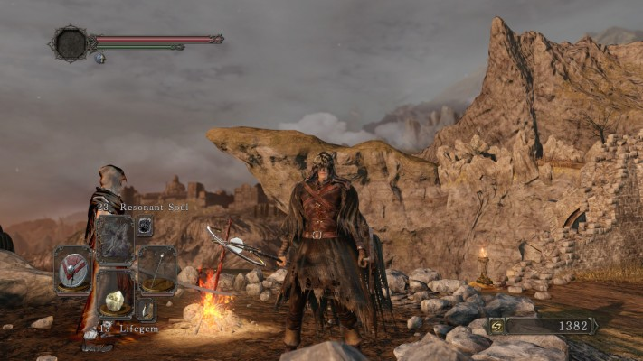 The end result. Early game Dark Souls 2 Hexer.