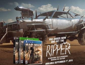 Mad Max Release Date, Pre-Order Bonuses & More