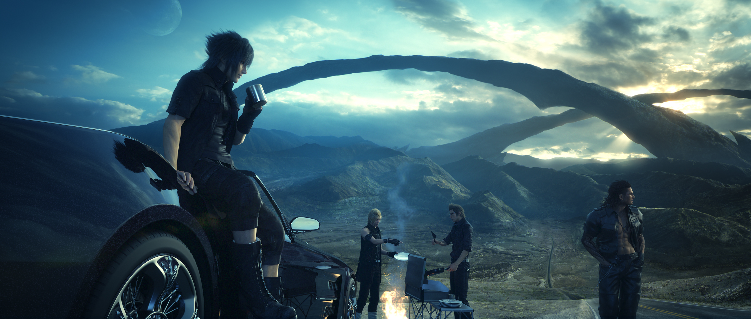 Final Fantasy XV hanging out