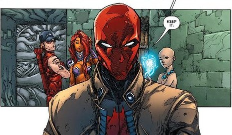 Starfire will be leaving the team after Convergence to star in her own solo, but Red Hood/Arsenal will launch as well!
