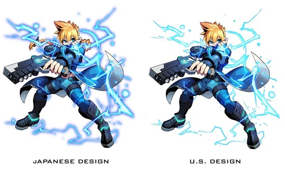 Azure-Striker-Gunvolt comparison