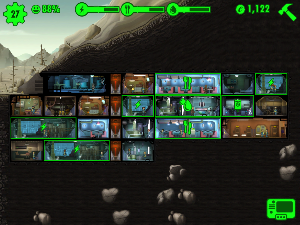 high lv fallout shelter