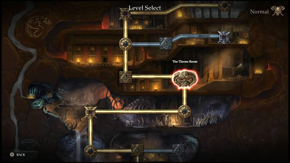 Gauntlet level select screen