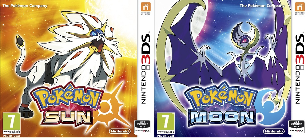 Pokemon Sun and Moon boxart