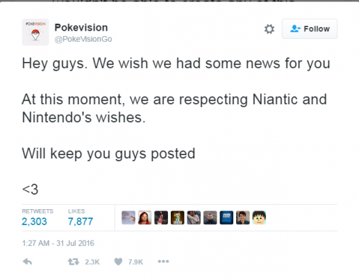 Pokevision twitter