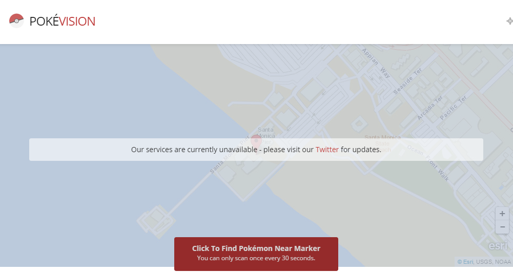 Pokevision Shuts Down