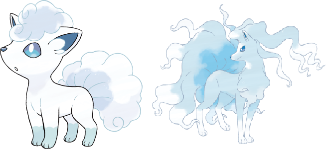Alolan Vupix and Ninetails