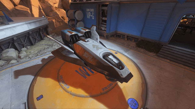 The Payload in Escort. Move this bad boy from one side of the map to the other to claim victory.