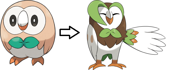 rowlet-evolution
